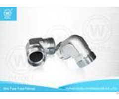 Carbon Steel Bite Type Hydraulic Hose Compression Fittings 90 Degree Elbow