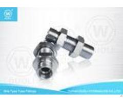 Steel 24 Degree H T Hydraulic Bulkhead Union Bite Type High Pressure Tube Fittings