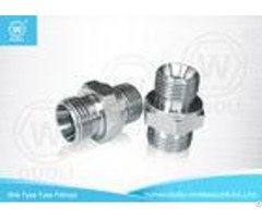 Straight Din 24 Degree Cone Seat Bite Type Hydraulic Hose Connectors Fittings
