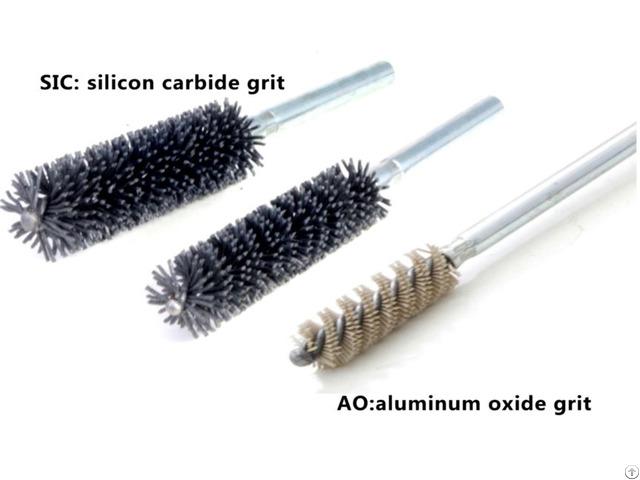 Tube Brushes With Shank Double Spiral Abrasive Nylon