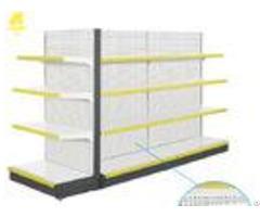 Powder Coated Supermarket Shelf Rack Double Sided 120kg Levels Load Weight