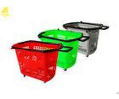 Pp Material Hand Held Shopping Baskets Custom Logo Light Weight Beautiful Shape