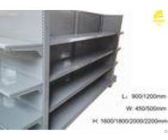 Durable Supermarket Steel Racks 60 65kg Layer Load 1200 X 400mm Upper Shelf