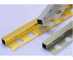 Bright Polished Aluminum Square Edge Metal Tile Trim Profiles Easy To Clean
