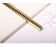 Polished Golden Listello Tile Trim Extruded Aluminum U Profilechannel