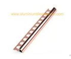 High Gloss Polished Aluminium Tile Edge Trim 2m Rust Proof Interior Decoration