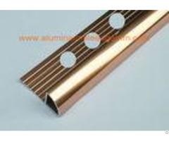 External Corner Aluminum Tile Trim Profiles 10mmbright Brass Polished Coppper Color
