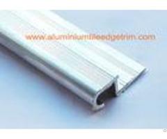 Round Edge Silver Tile Bullnose Stair Nosing Profile Natural Aluminium Color For Terrace