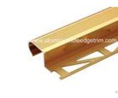 Curved Aluminium Bullnose Stair Nosingmachanical Polished Anti Skidding
