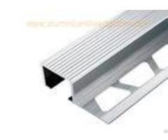 Exterior Aluminium Stair Tread Nosinganodized Matt Silver For Ceramic Wood Covering