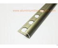Smooth Aluminium Tile Edge Trim Protection Metal Edging Strip Matt Bronze Half Round