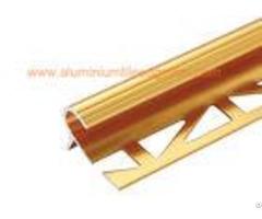 10mm Round Edge Aluminium Anti Slip Stair Nosingreduce Trip Hazards Matt Gold Color