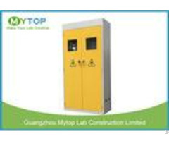 Metal Laboratory Storage Cabinet For Gas Cylinder With Option Alarm System