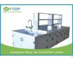 Hospital Pp Modern Laboratory Furniture Lab Bench With Sink Acid Resistance