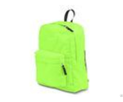 Customizable Outdoor Sports Backpack Light Green For High School Girls Boys