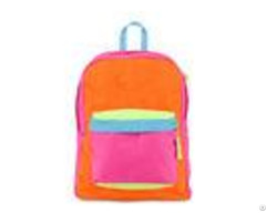 Multi Colored Fashionable Kids Sports Backpack For Girls Orange Red Blue