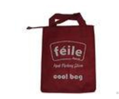 Red Small Lunch Insulated Cooler Bags For Frozen Food Silk Screen Logo
