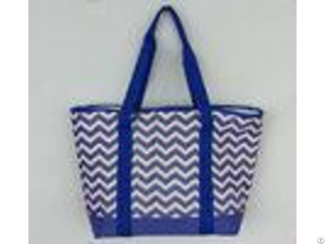 Outdoor Insulated Cooler Bags Full Printed 600d Polyester Tote Beach