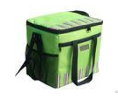 Green Large Insulated Cooler Bags 600d Polyester With Food Standard Pvc Lining