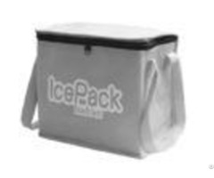 Portable Nonwoven Insulated Cooler Bags For Promotional Grey Blue
