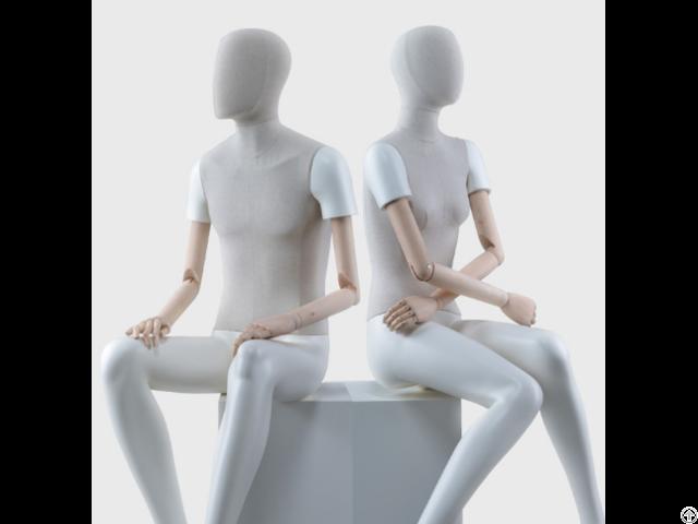 Vintage Linen Full Body Mannequin