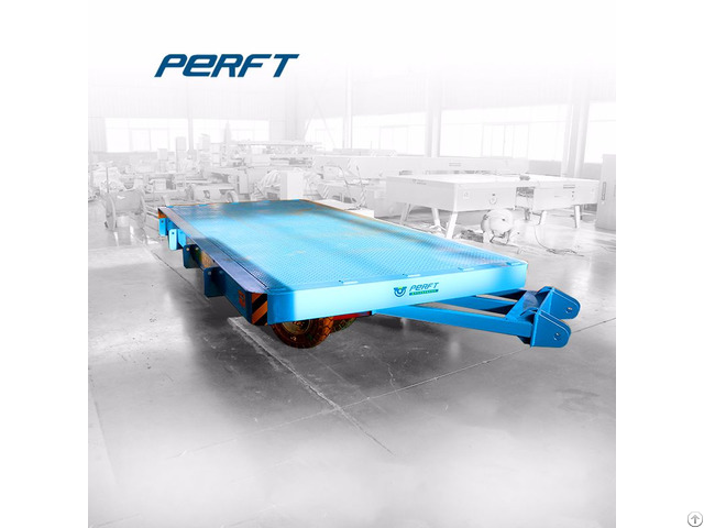 15t Transport Steerable Heavy Duty Plant Trailer With Draw Bar