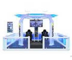 Popular 9d Virtual Reality Theme Park White Blue Color For 5 Person Player