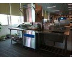 Restaurants Hood Type Dishwasher 6 5kw 11kw 1400h 650w 800d Eco F1