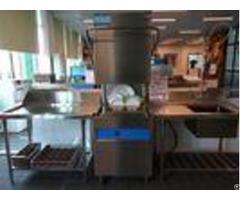 Staff Canteens Hood Type Dishwasher Dispenser Inside 1400h 650w 800d Eco F1