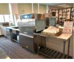 Stainless Steel Rack Conveyor Dishwasher 10kw 28kw For Eco M90p Restaurants