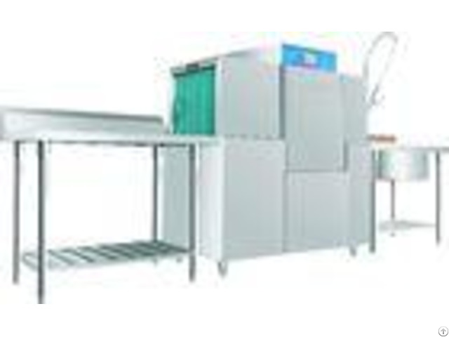 Stainless Steel Rack Conveyor Dishwasher Eco M140 10kw 46kw For Restaurant