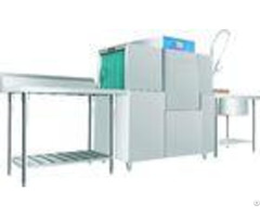 Stainless Steel Rack Conveyor Dishwasher Eco M140 10kw 46kw For Restaurant