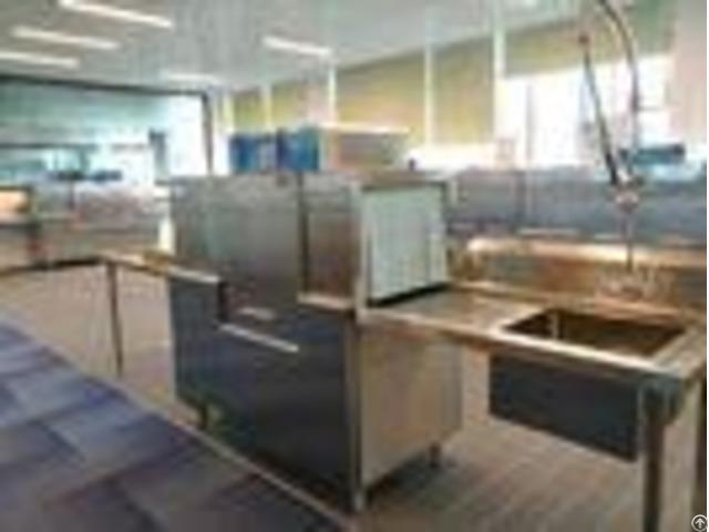 10kw 46kw Commercial Dishwashing Machine Eco M140 Dispenser Inside