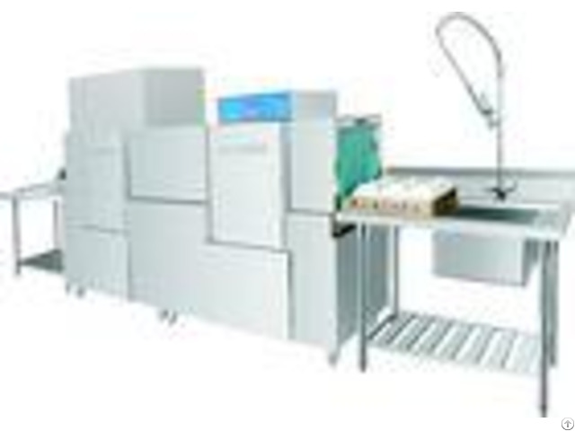 Stainless Steel Rack Conveyor Dishwasher Eco M260ph 20kw 56kw For Restaurant