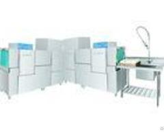 20kw 56kw Hotel Rack Conveyor Dishwasher Eco M260ph Dispenser Inside