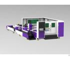 Tube Pipe Cnc Laser Cutting Equipment Ipg Source High Position Acccuracy