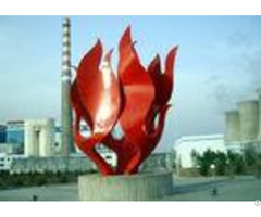 Modern Red Painted Stainless Steel Outdoor Sculpture Oem Odm Available