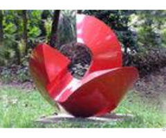 Curved Modern Metal Outdoor Sculptures Different Colors Materials Available