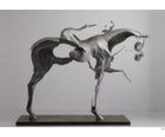 170cm Life Size Abstract Stainless Steel Horse Sculpture Brushed Finishing