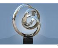 Large Size Stainless Steel Sculpture Circle Around For Hotel Public Decoration