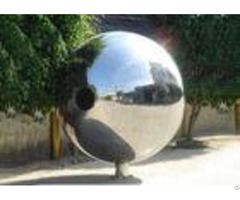 Polished Outdoor Metal Sculpture Stainless Steel Decorative Balls For Yard Decoration