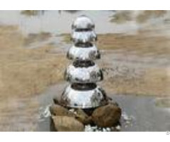 Mirror Polished Stainless Steel Water Feature Five Semicircle Design