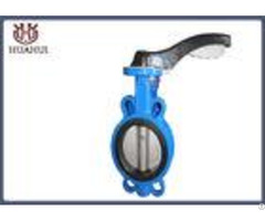 Rubber Seated Wafer Butterfly Valve Cast Iron Dn50 With Handle Operation
