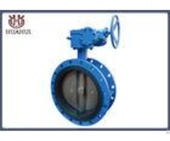 Rubber Seal Double Flanged Butterfly Valve Pneumatic Operated With Api 609 Standard