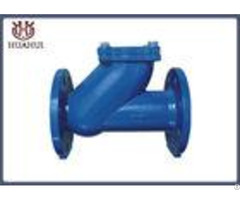 Rubber Ball Flanged Check Valve Automatic Type Pn10 Working Pressure For Sewage