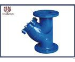 Ductile Iron Y Type Strainer Blue Color With Ss316 Screen Din Standard
