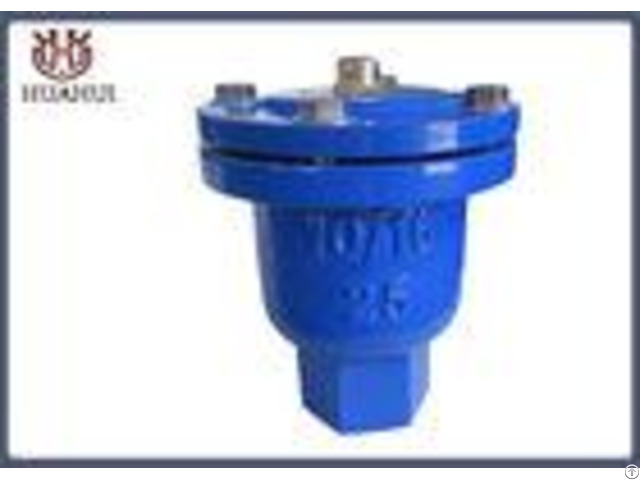 Screw Connection Air Release Valve Blue Color Ductile Iron With Stainless Steel Ball