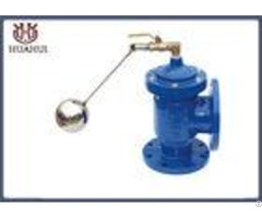 Angle Hydraulic Float Control Valve Double Flange Blue Color Dn200 Pn16