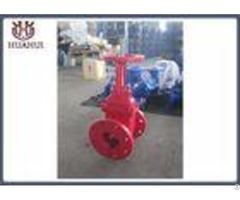Rising Stem Resilient Seated Gate Valve Plat Face Flange Red Blue Color