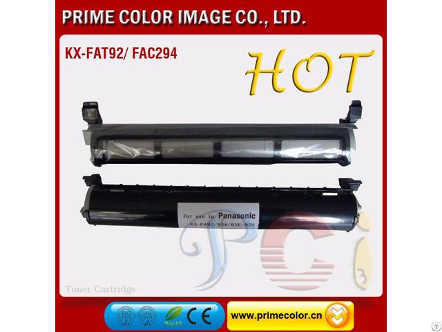 Black Toner Cartridge For Panasonic Kx Fat92 New Build